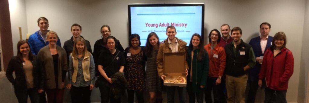 YAM Steering Committee: Thanks to all of the young adults who are committed to growing our ministry at STM! Looking forward to a great year ahead!