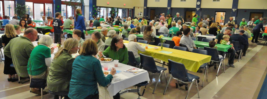 St. Patrick's Day in STM's Mulhern Hall