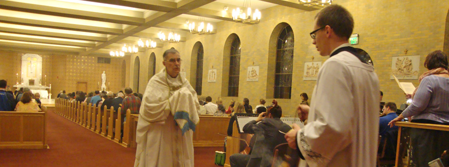 Sanctuary during the Easter Vigil